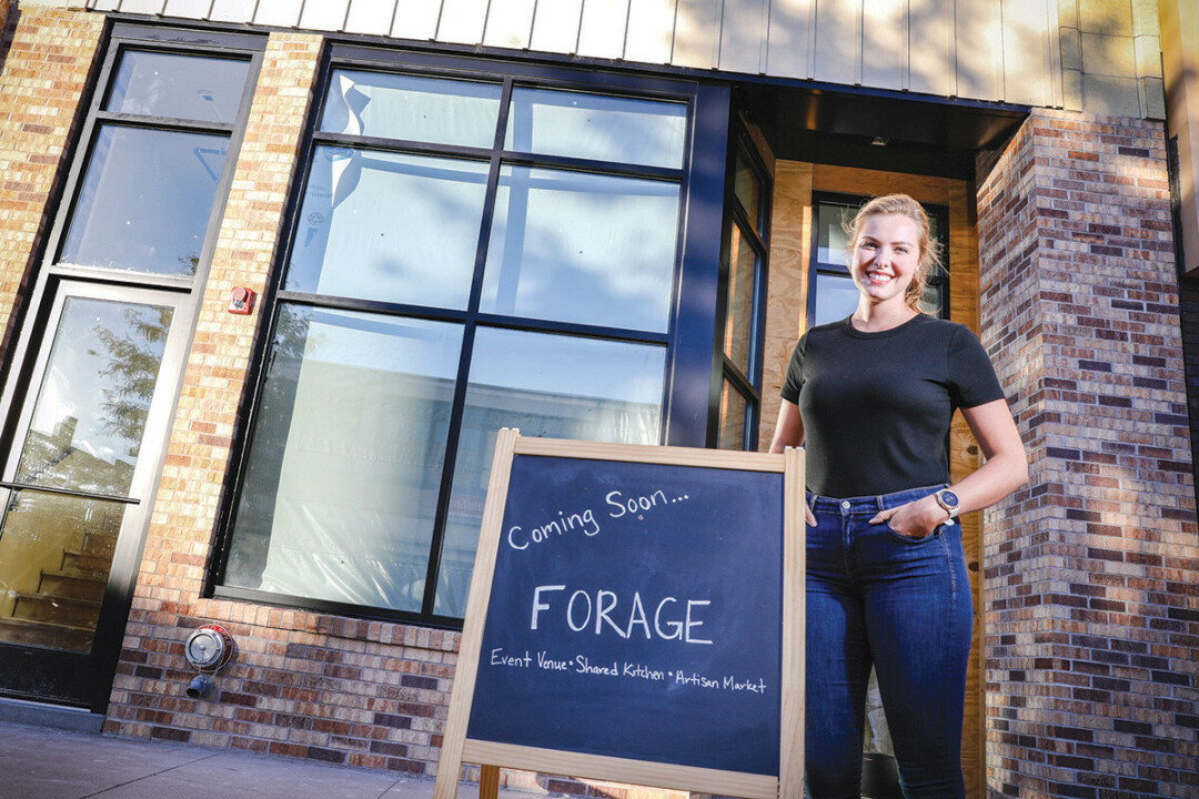 COMING SOON. Meredith Kervin Blankenheim, owner of Forage, at the food and event space's new home, 403 S. Barstow St.