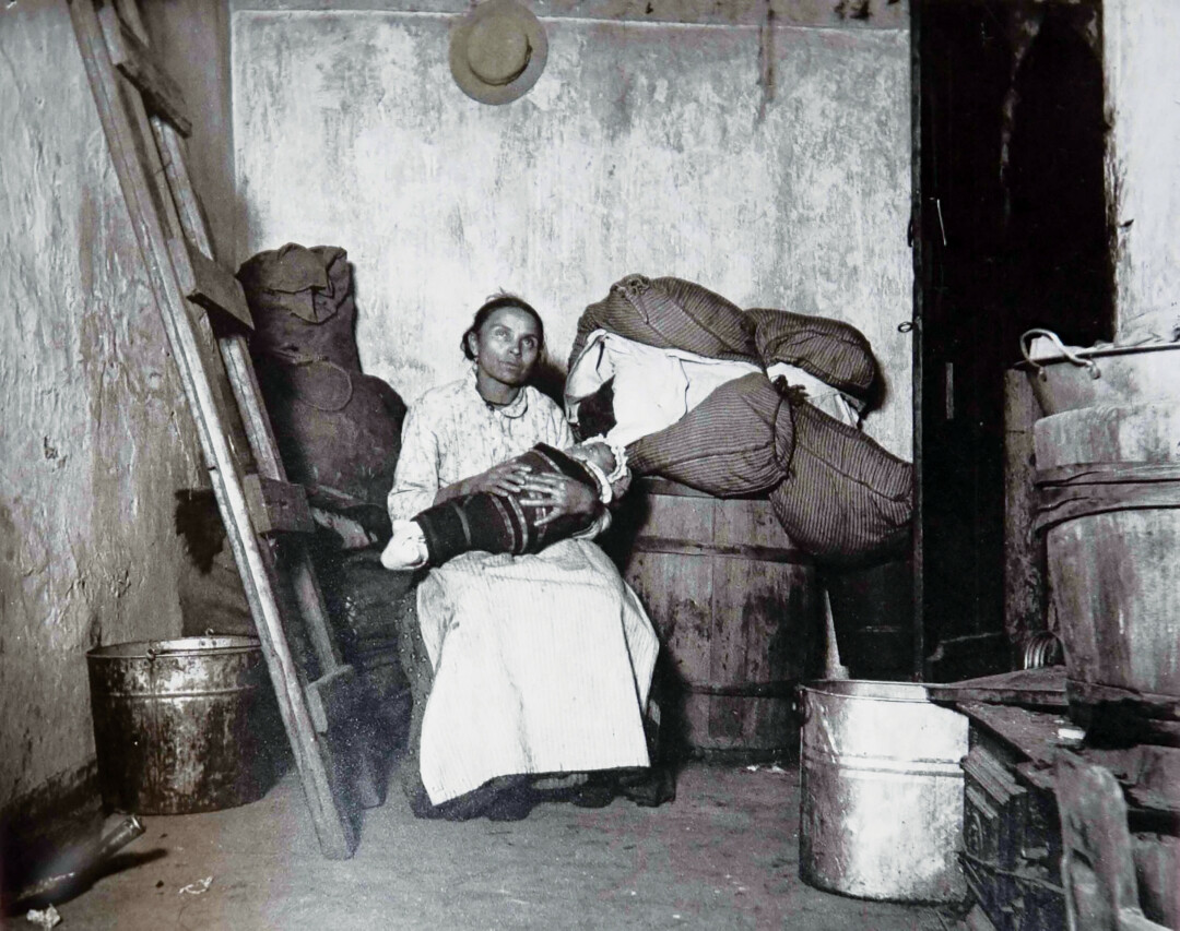 Italian Mother and Her Baby in Jersey Street, 1888-89 by Jacob Riis