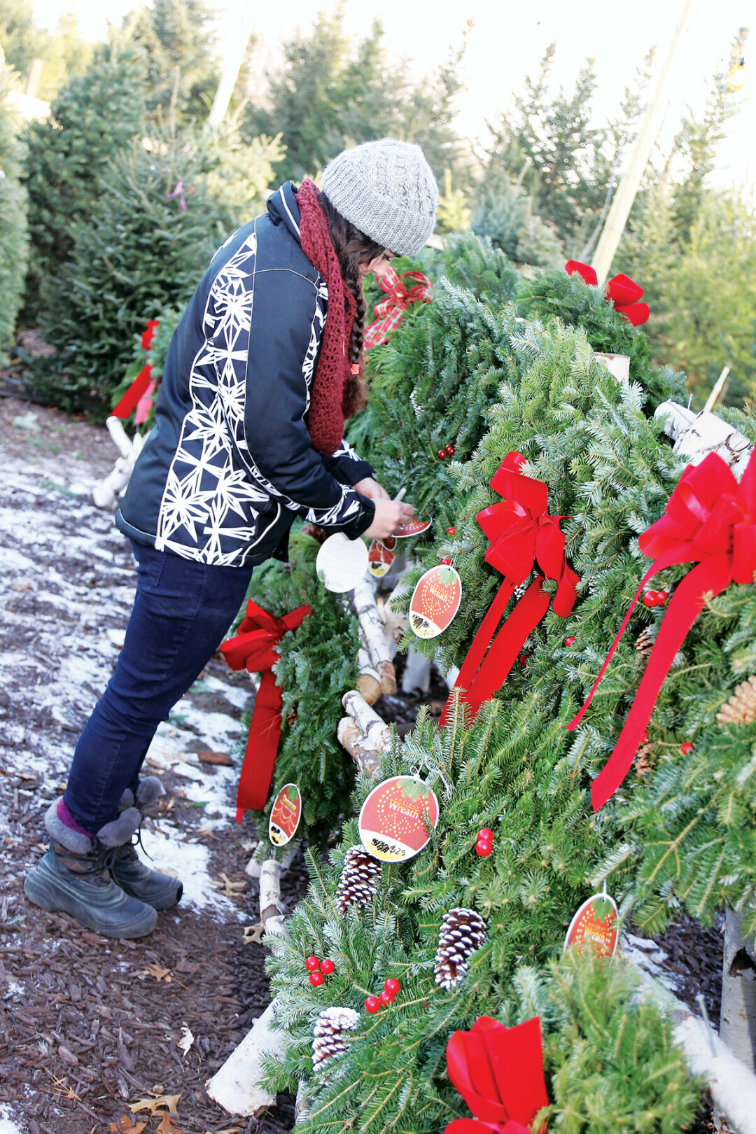 SEE THE TREES. Visit a local tree farm to deck your halls with merriment this holiday season.