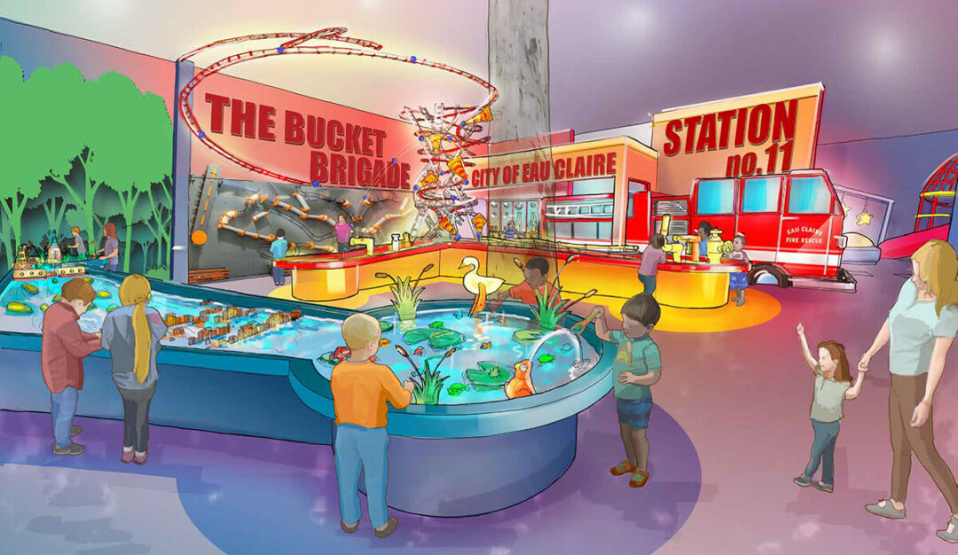 The Water Play exhibit at the future Children's Museum of Eau Claire. (Submitted image)