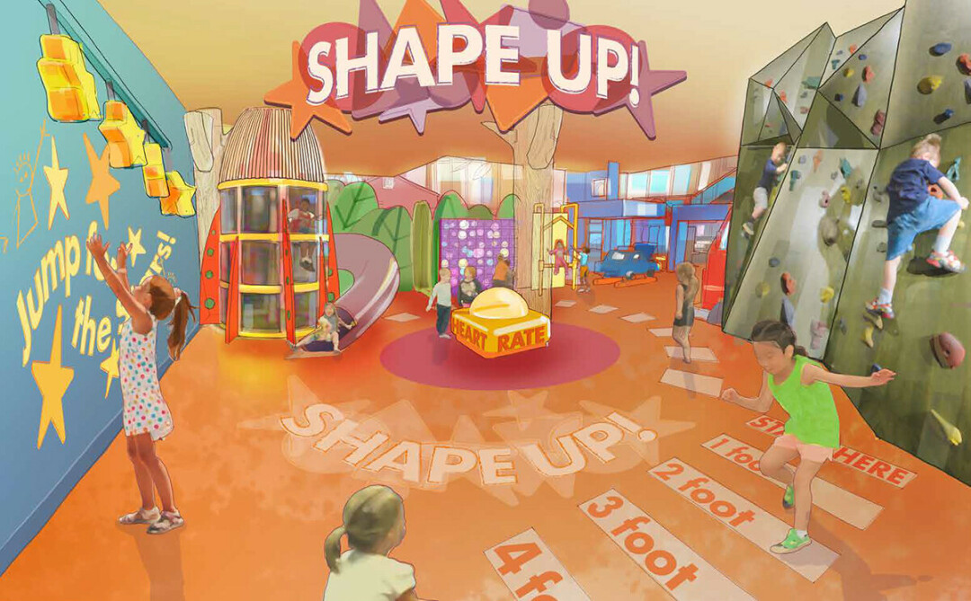 The Shape Up! area in the future Children's Museum of Eau Claire. (Submitted image)