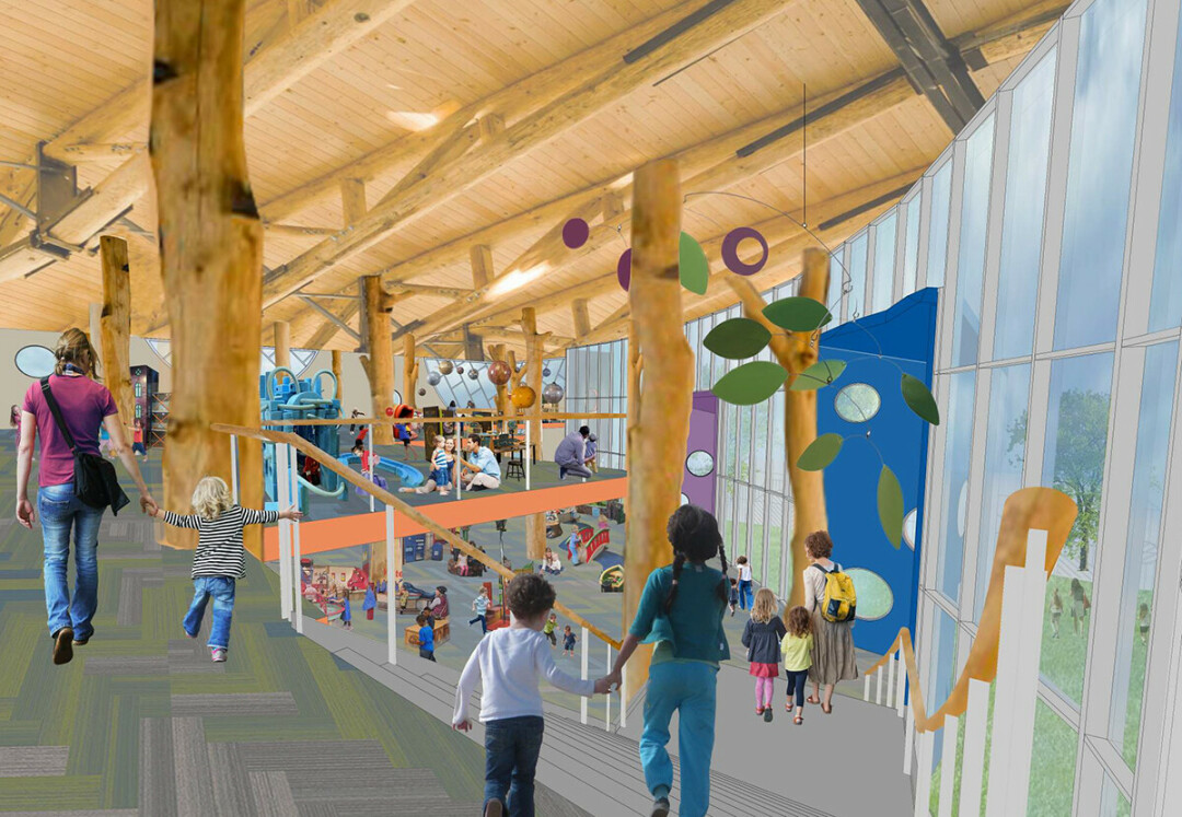 A conceptual image of the interior of the future Children's Museum of Eau Claire. (Submitted image)