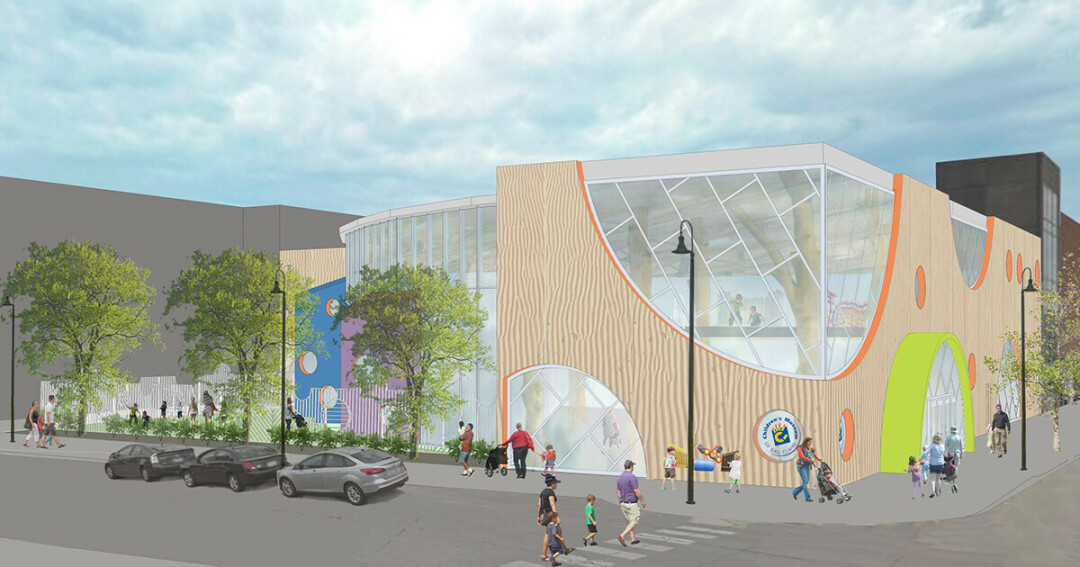 An exterior rendering of the future Children's Museum of Eau Claire on North Barstow Street. (Submitted image)