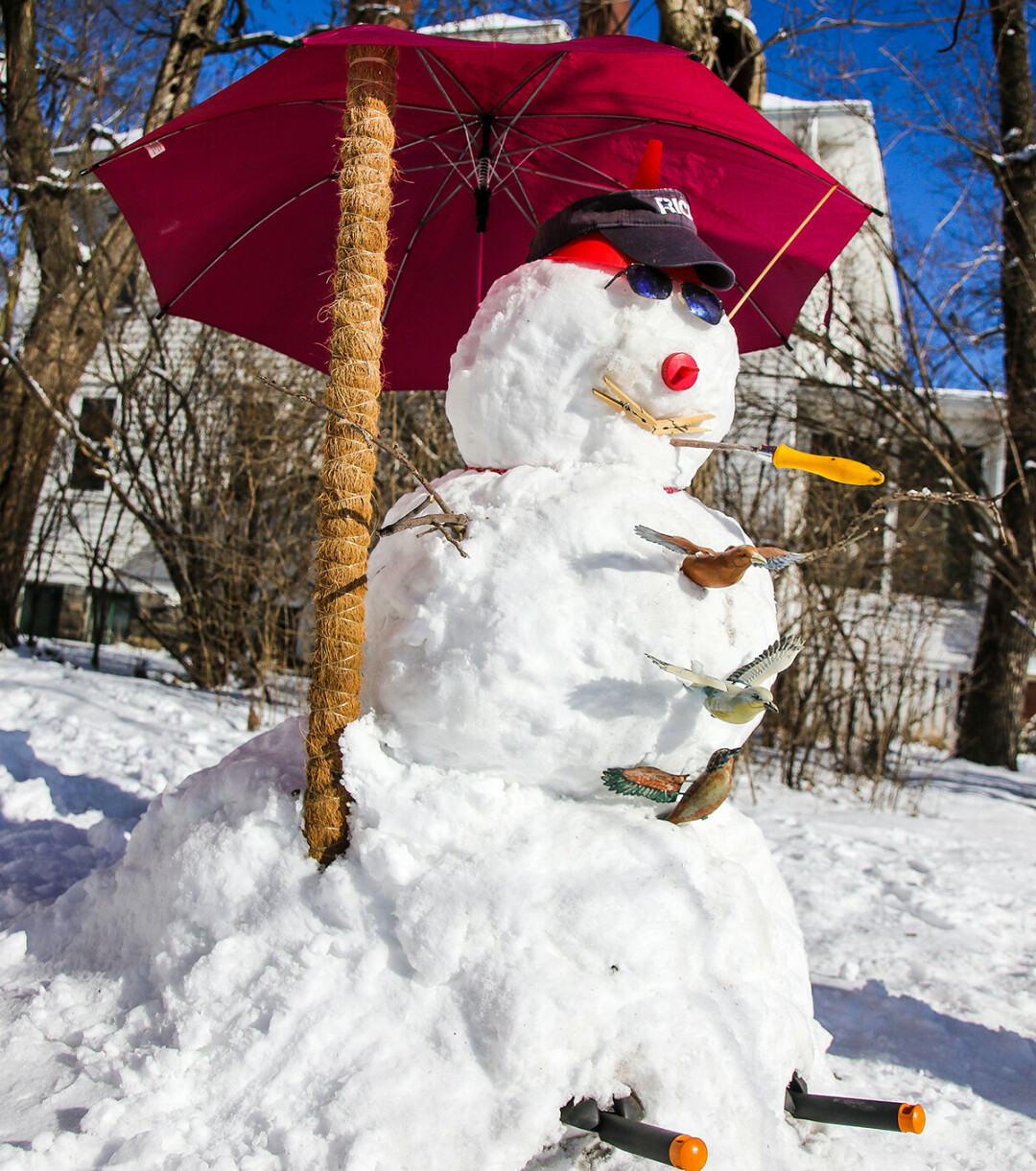 SNOW FUN. When life gives you snow, make a snowman – like this guy from a couple of winters ago.