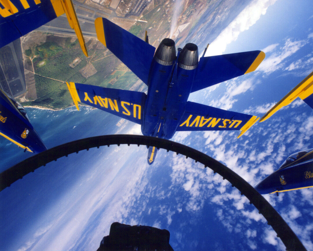 DARING AND DIZZYING. The U.S. Navy Blue Angels are set to show off in the skies about the Chippewa Valley in June 2022. (U.S. Navy photo)