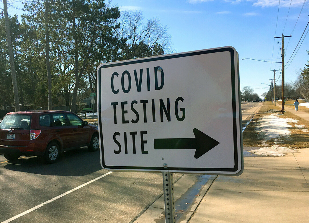 The National Guard COVID-19 testing site at Peace Church, just off East Hamilton Avenue in Eau Claire.