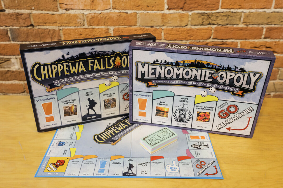 LOCAL OPOLY. Two new localized Monopoly games recognize iconic Menomonie and Chippewa Falls locations.