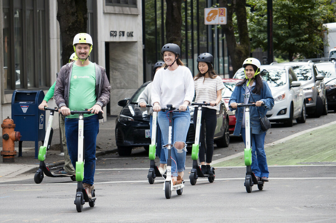 In recent years, electric scooter sharing services have popped up in numerous cities, including Portland, Oregon. (Photo by xxxx | CC BY 2.0)