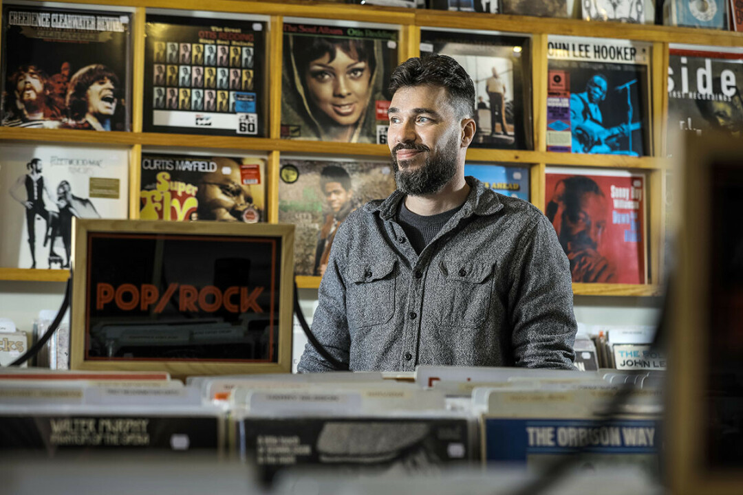 Billy Siegel, owner of Revival Records, Eau Claire. (Photo by Andrea Paulseth)
