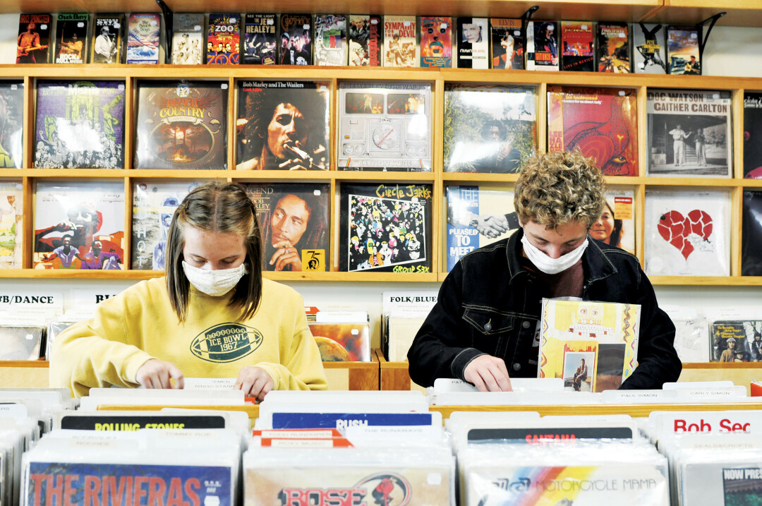 Shopping at Revival Records. (Photo by Alee Erickson)