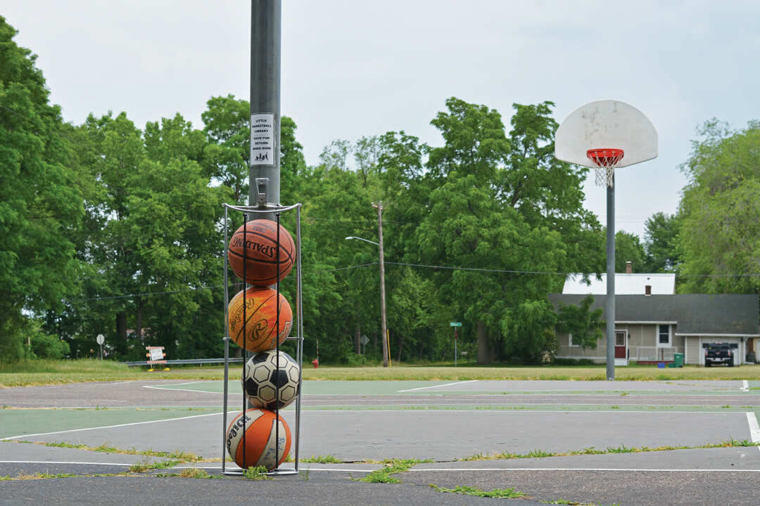 PLAY BALL! Little Free Basketball Libraries have appeared in several Eau Claire Parks, thanks to one basketball enthusiast who aims to make playing sports an option for all local kiddos.