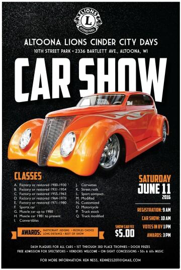 Cinder City Days Car Show - Car show trophies dash plaques