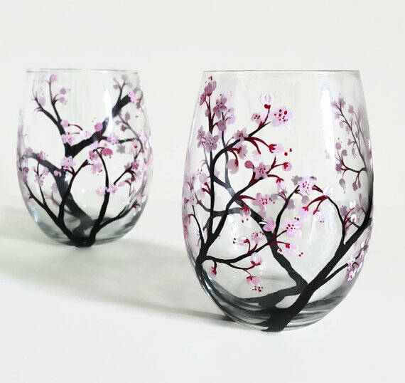 Free Hand Glass Painting Designs