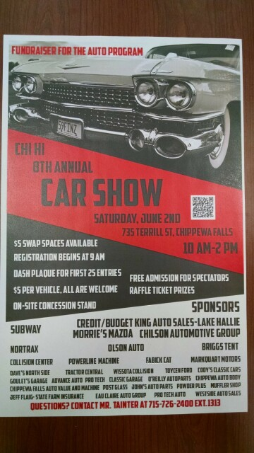 Car Show At Chippewa Falls High School Chippewa Falls High - Car show event calendar