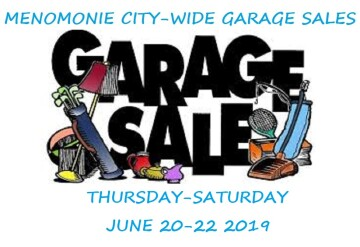 Menomonie City-wide Garage Sales - City of Menomonie