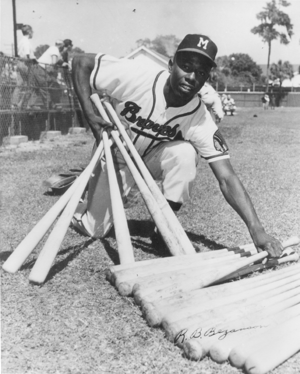 HISTORY! 1952, the Milwaukee Braves offered Hank Aaron $350 a month to play in the minor leagues. They shipped him off to Eau Claire to play for the Bears, one of the Braves seven minor league teams.