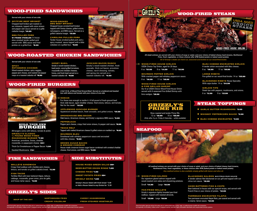 Grizzly's Wood-Fired Grill & Steaks