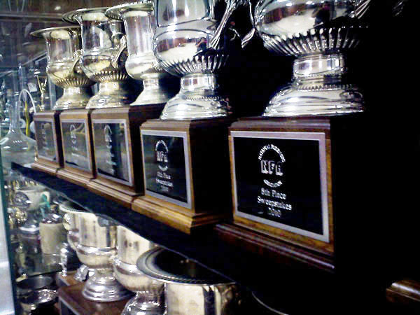 The Forensics trophy case at UW-Eau Claire. Submitted Photo