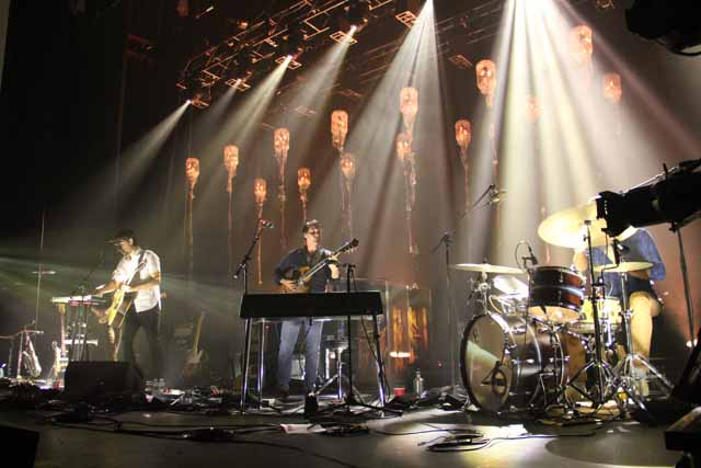 A Grizzly Bear concert from 2012, stage design by Michael Brown. Image: WERS 88.9