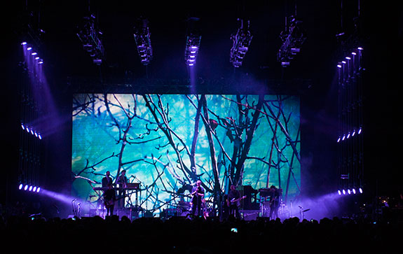 The National has toured with a stage and lighting show designed by Michael Brown. Image: LMG Touring.