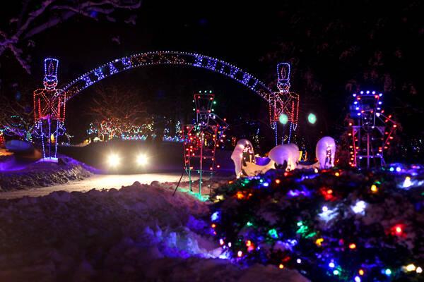 Christmas Village In Irvine Park