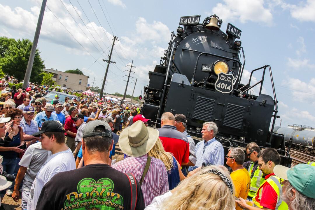 Union Pacific Big Boy No  4014 Locomotive Visit