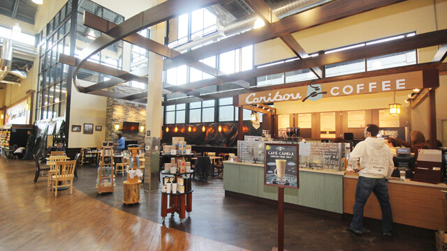 The in-store Caribou Coffee.