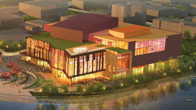 a 150,000 square-foot shared community arts center