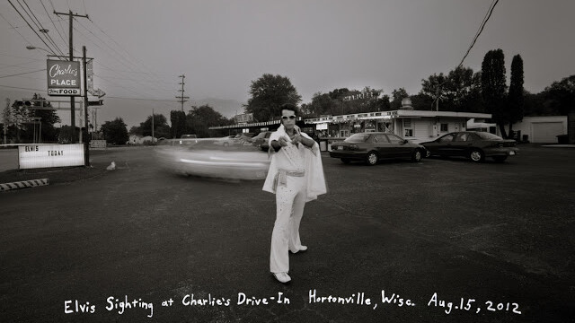 Elvis Sighting at Charlie's Drive-In, Hortonville, Wisconsin, August 15, 2012