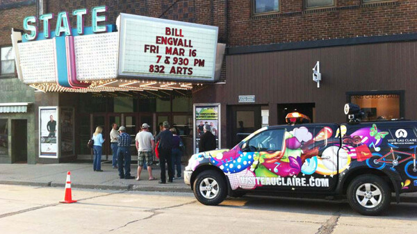 ARTS AND TOURISM COLLIDE ... ALMOST. Local tourism agency Visit Eau Claire wants to base the Fun Patrol and the rest of its operations in the Confluence Project, the proposed successor to the State Theatre.