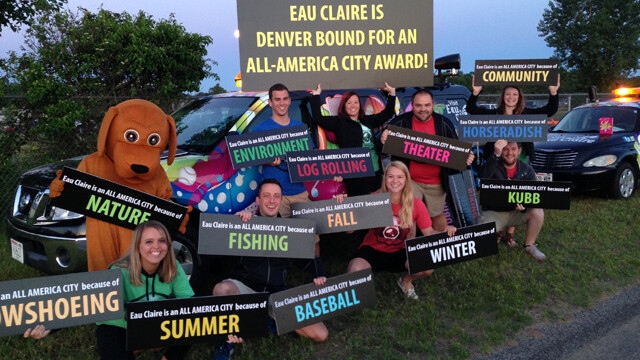 Eau Claire's All-America City delegation before leaving for Denver earlier this week.
