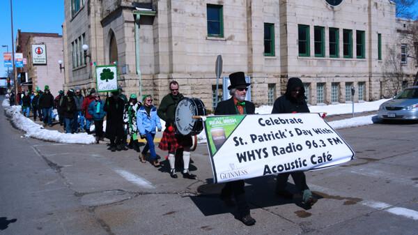 Today! WHYS 96.3fm 9th Annual St. Paddy's Day Shortest Sidewalk Parade & Celebration