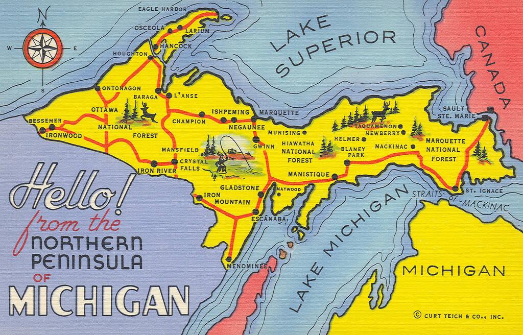 Upper Peninsula Map How Wisconsin