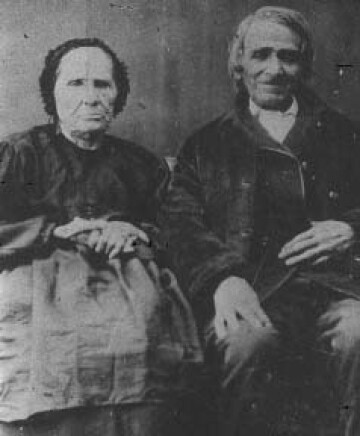 Alexis St. Martin (pictured right) and his wife in old age.