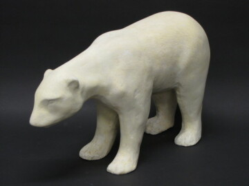 The Chippewa Valley Museum restored this plaster bear donated by the the Uniroyal-Goodrich Tire Company in 1992.