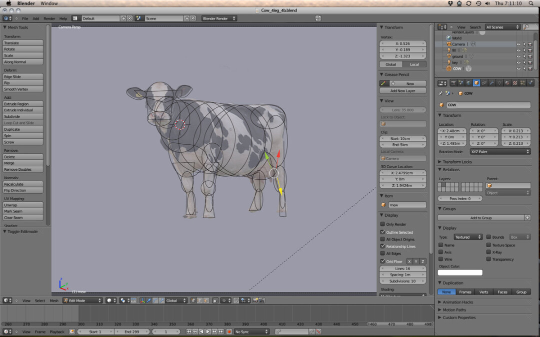 """Seriously, each udder is rendered to act independently of the others,"" resulting in ""the most realistic onscreen portrayal of a Holstein in the cinematic history.""  – Creative Director Harry Bischoff on the special effects in <em>POP. 450 