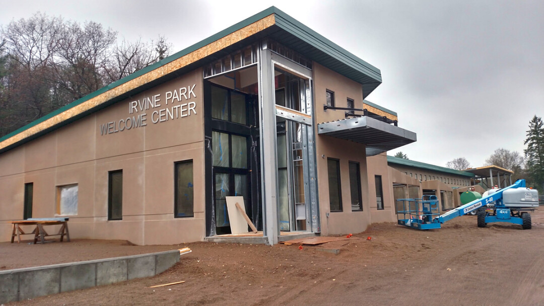 CREATURE FEATURE. The new small animal building and visitors' center at Irvine Park in Chippewa Falls is expected ot be completed by Memorial Day.