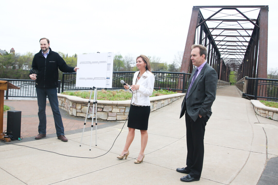 Plans were announced at a blustery press gathering April 26.