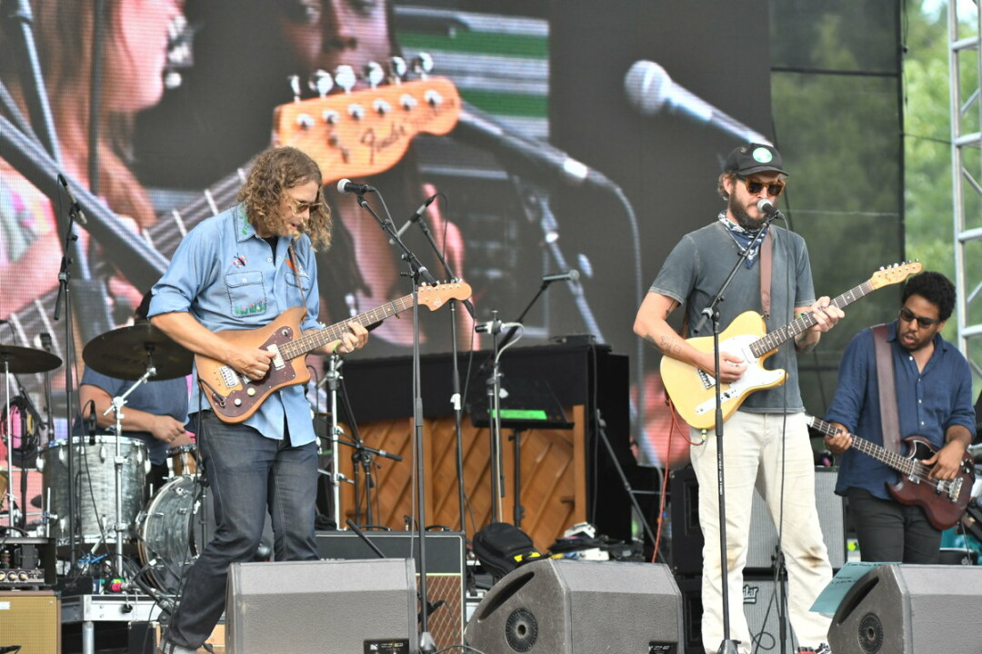 Native Eau Clairians Phil Cook and Justin Vernon on stage at Eaux Claires 2016.
