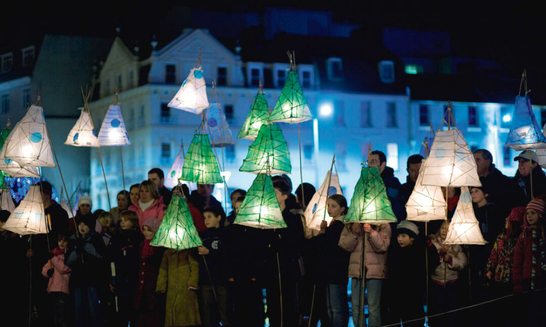 LIGHT IT UP. Lantern parades like this one in the U.K. helped inspire some of downtown Eau Claire's new New Year's festivities. Image: Jersey Tourism/Creative Commons