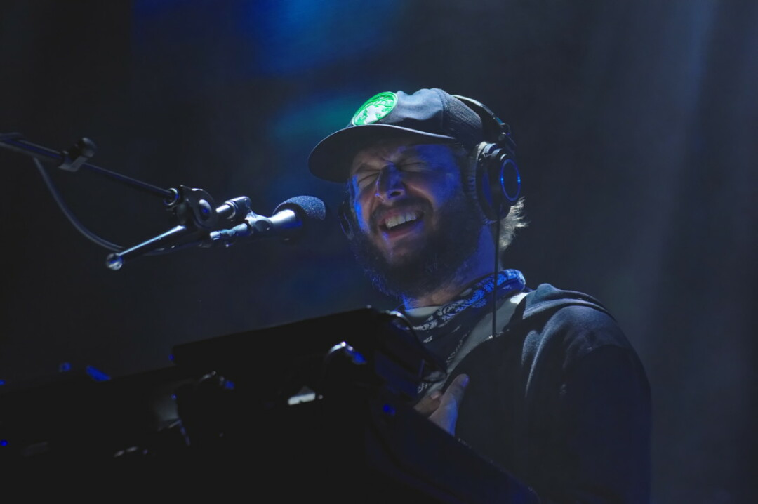 Justin Vernon performs with Bon Iver at the Eaux Claires Music & Arts Festival, August 2016.