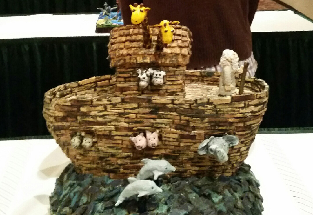ARK DE TRIOMPHE. Eau Claire's Adam Sieth enters his elaborate gingerbread works of art in an annual national competition. His creations have included Noah's ark (right) and a hungry frog (above).