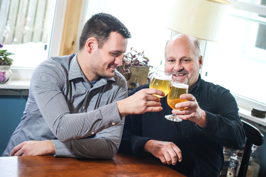 Eric Rykal (left), who's brewed beer for both Lucette Brewing Company and The Brewing Projekt, has teamed up with Mike Blodgett to launch Modicum Brewing in Altoona.