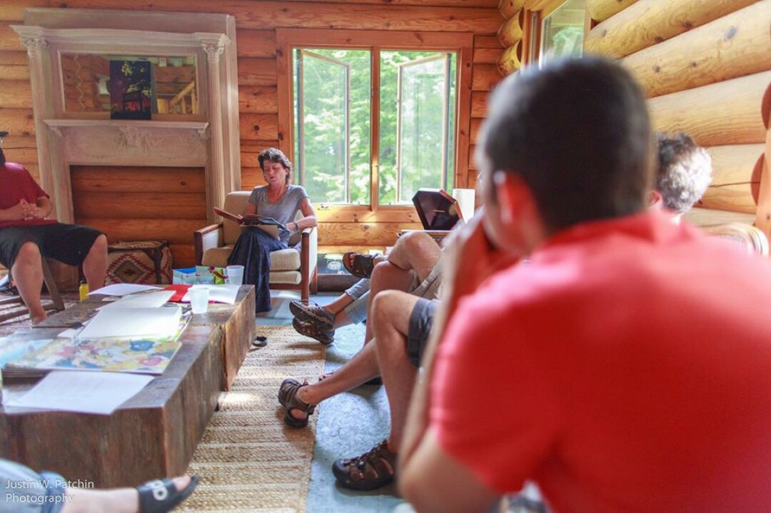A weekend writer's retreat hosted by the Chippewa Valley Writers Guild at the Cirenaica lodge just outside of Fall Creek. Photo: Justin Patchin