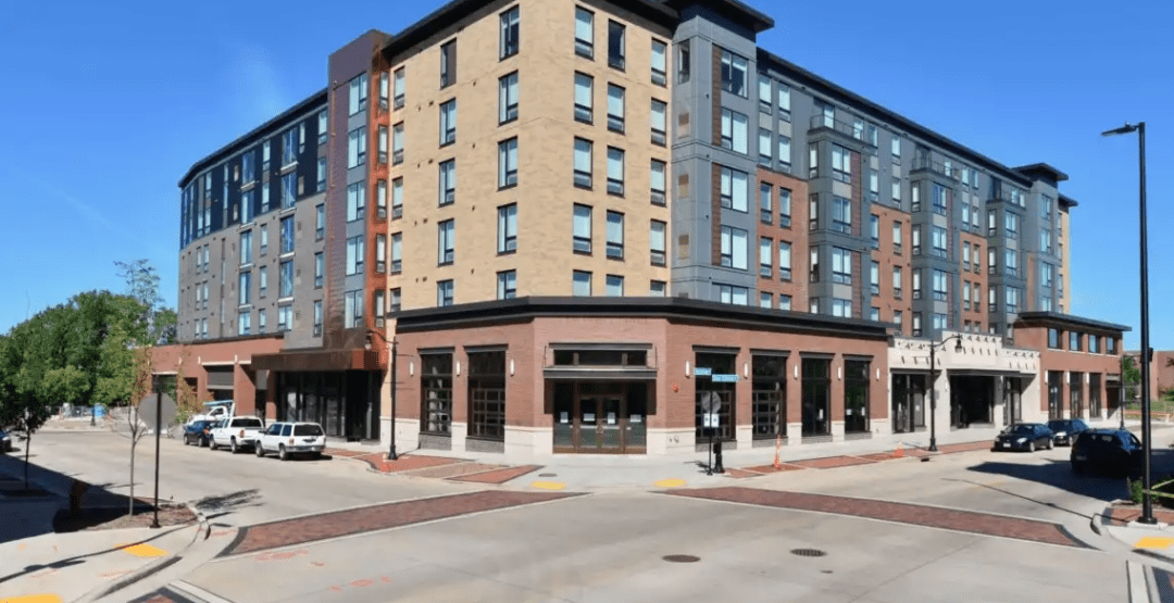 The Haymarket Landing Building, downtown Eau Claire. (image: HayMarketLanding.com)