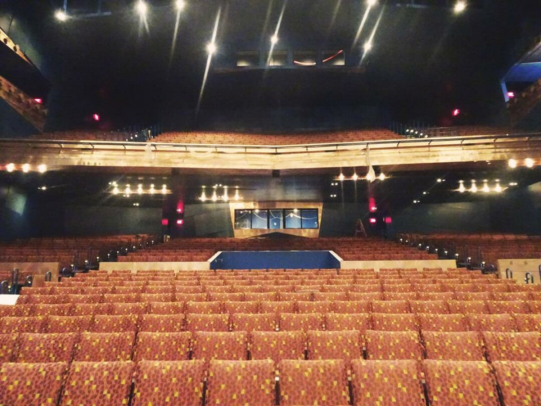 Newly installed seats inside the RCU Theater, the Pablo Center at the Confluence's large theater. (Image: Pablo Center)