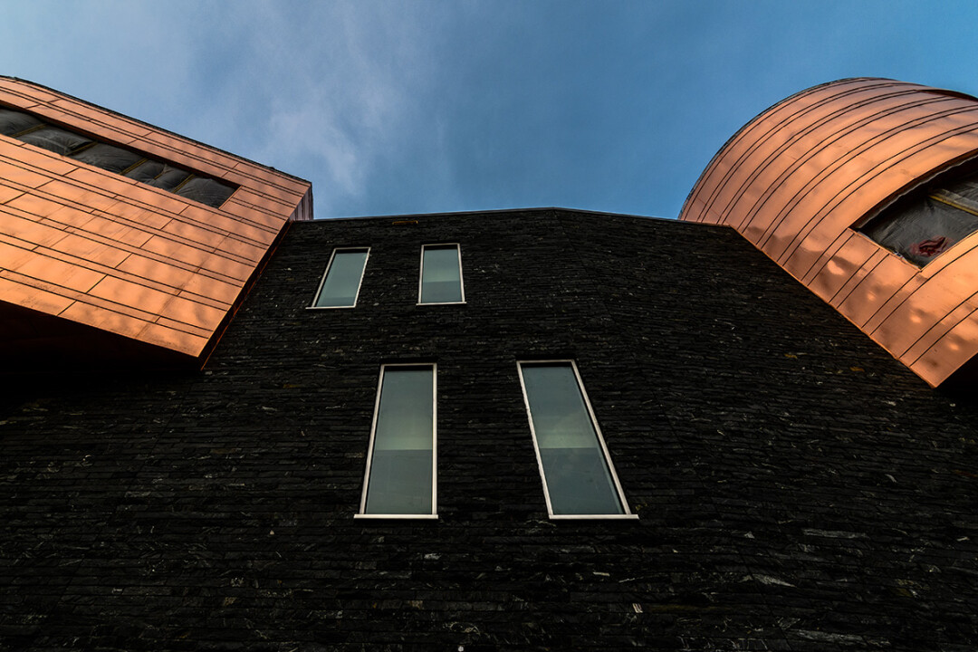 Pablo Center exterior copper work. (Image: Lee Butterworth)