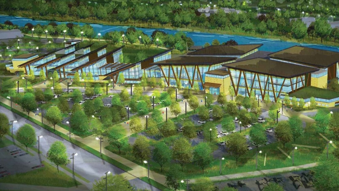 An artist's conception of the proposed Sonnentag Event and Recreation Complex, which could be part of an effort to built a city convention center (or not).